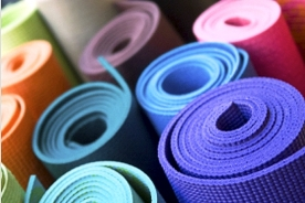 colorful yoga mats
